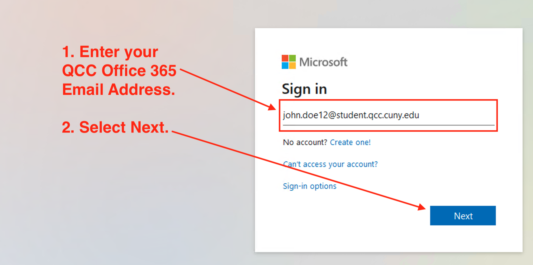 Use OneDrive - Step 3