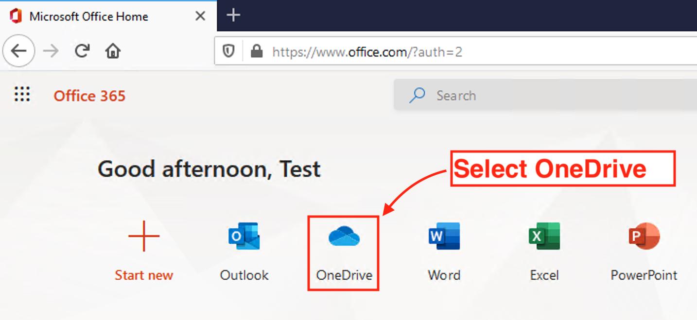 Use OneDrive - Step 6