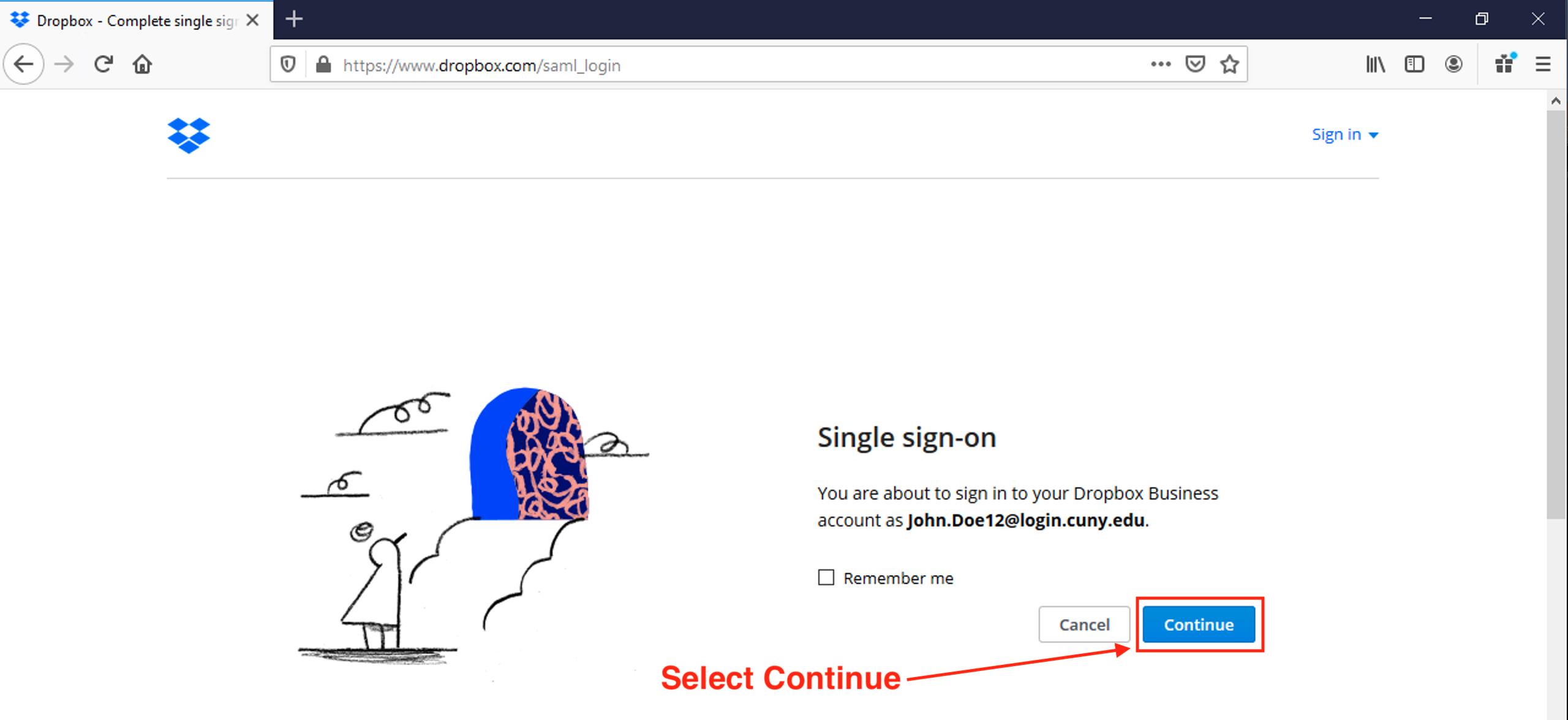 Use Dropbox - Step-3
